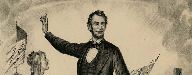 Detail from:: Print, Lincoln and Emancipation