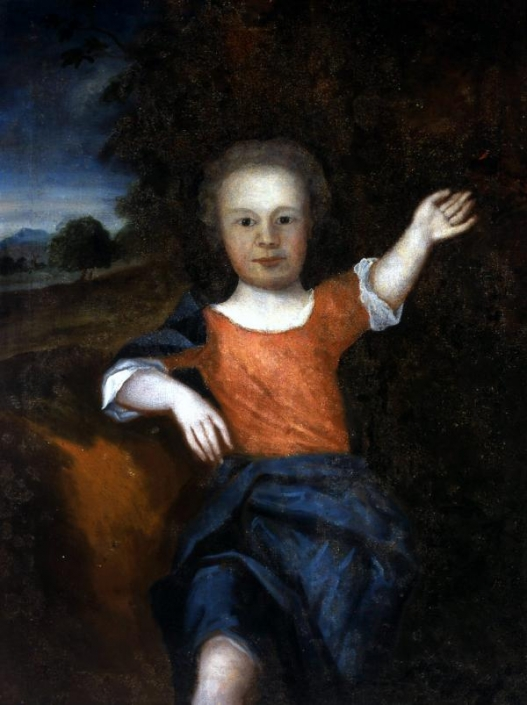 Posthumous oil portrait of Francis Folger Franklin.