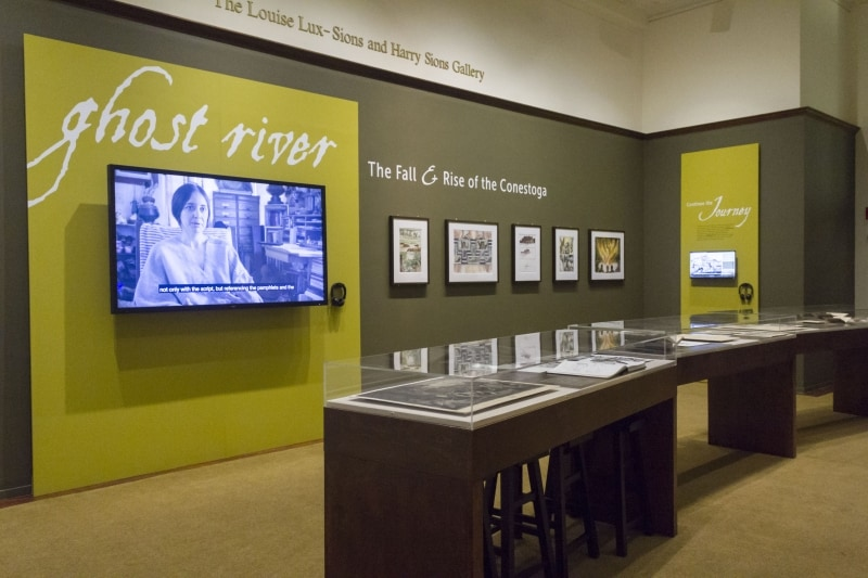 The Library Company gallery featuring the exhibition Ghost River