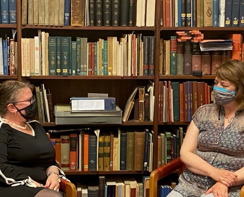Raechel Hammer, Chief Development Officer, interviews Emily Guthrie, the new Librarian at the Library Company