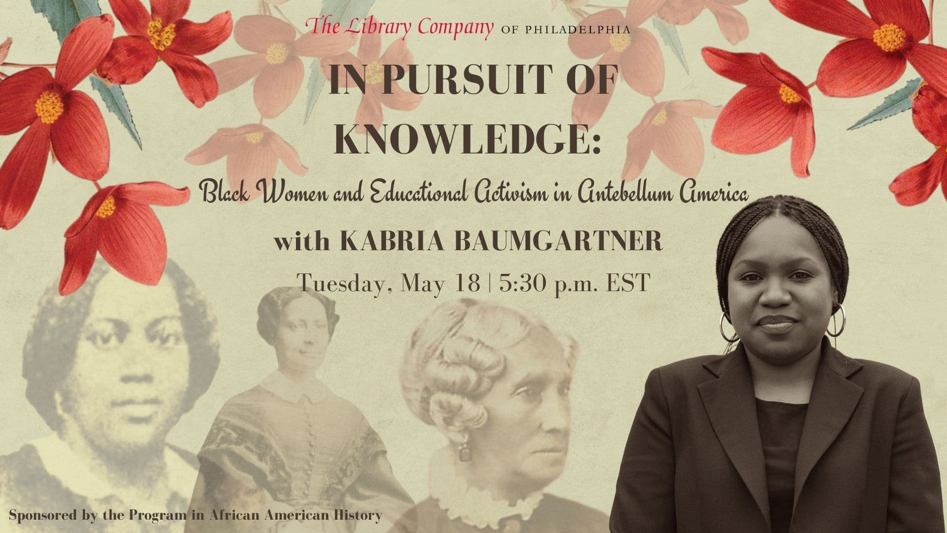 In Pursuit of Knowledge: Black Women and Educational Activism in Antebellum America (Book Talk)