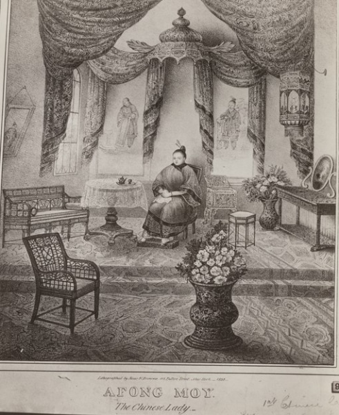 Afong Moy, the Chinese Lady. New York: Risso & Browne, 1835. Courtesy of the Miriam and Ira D. Wallach Print Collection, New York Public Library.