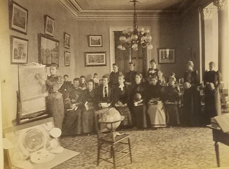 Pages 16 in Ida F. Drew, Ogontz School for Girls Photograph Album (Philadelphia, 1892-1893). Albumen prints.