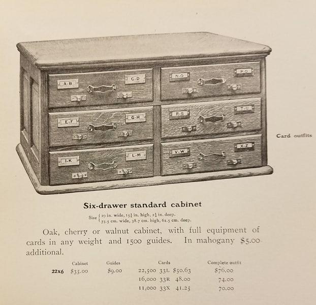 Library Bureau. Library Catalog: A Descriptive List with Prices (Boston, 1902).
