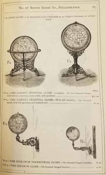 J.L. Smith, Catalogue and Price-List of Maps, Atlases, Globes, and Other Geographical Works (Philadelphia, 1874), 25.