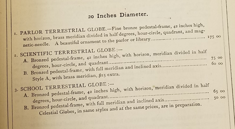J.L. Smith, Catalogue and Price-List of Maps, Atlases, Globes, and Other Geographical Works (Philadelphia, 1874), 27.