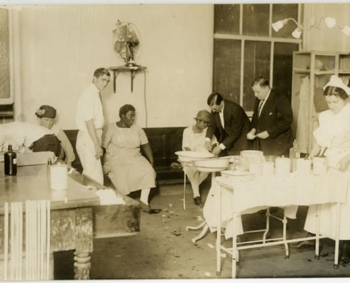 Photo-Illustrators, [Interior of a medical clinic], ca. 1930. Gelatin silver print.