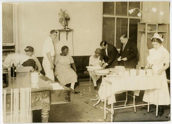 Photo-Illustrators, [Interior of a medical clinic], ca. 1930. Gelatin silver print.