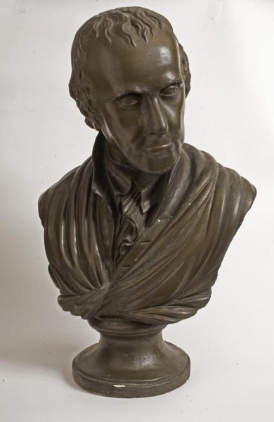 Plaster cast of William Rush's 1812 terracotta bust of Benjamin Rush.