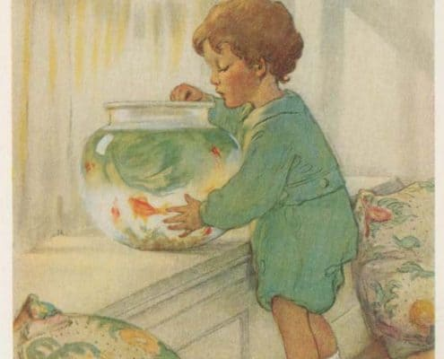 """""""The Goldfish"""" in Ada M. Skinner's A Child's Book of Modern Stories (1935)."""