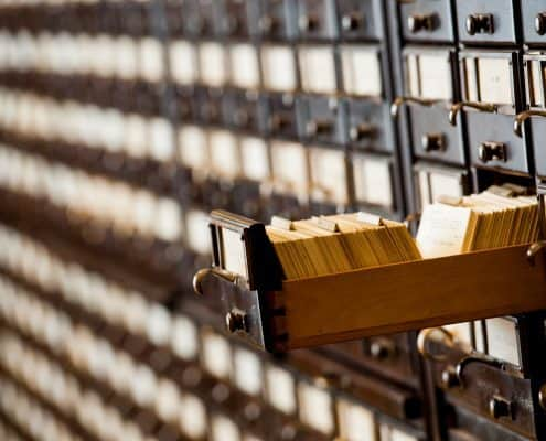 Card catalog in the William H. Scheide Reading Room.