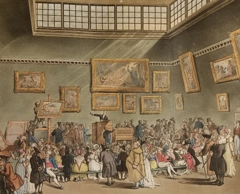 The Microcosm of London. London: R. Ackermann, 1808-11. Christie's Auction Room.