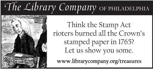 Think the Stamp Act rioters burned all the Crown's stamped paper in 1765? Let us show you some.