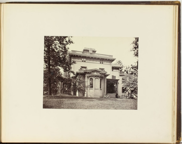 Robert Newell, Page 2 in Views at Chestnutwold, Residence of C.H. Clark, ca. 1870. Albumen print mounted on cardboard, Library Company of Philadelphia, P.9291.