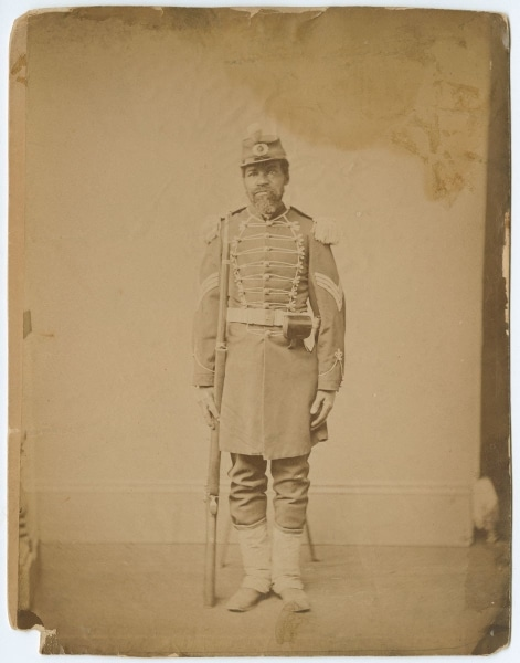 Portrait of Harmon Richardson in Portrait Album of Well Known 19th-Century African American Men of Philadelphia, 1865-85. Albumen print, Library Company of Philadelphia, P.9304.