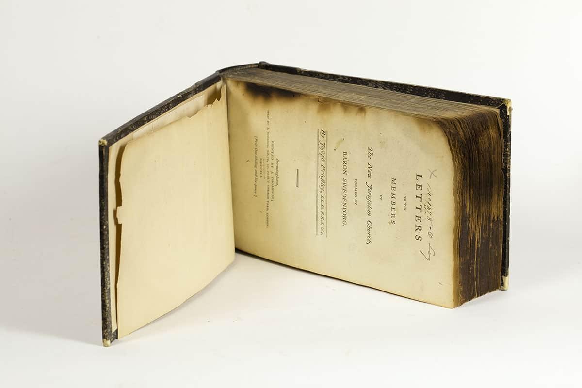 Priestley, Joseph. Letters to the Members of the New Jerusalem Church. Birmingham: J. Thompson, 1791. Am 1791 Nic Log. 1878.O.1