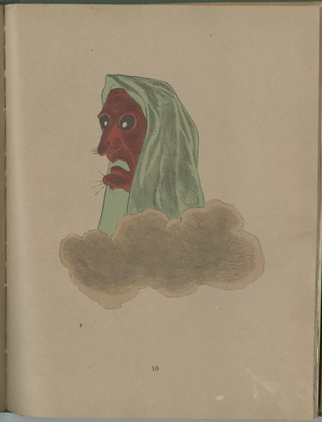 Illustration from Spectropia depicting a gnarled face in a cloud.