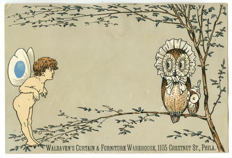Walraven's Curtain & Furniture Warehouse, 1105 Chestnut St., Phila. (Philadelphia, ca. 1880).