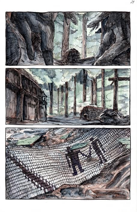 colored page from Ghost River