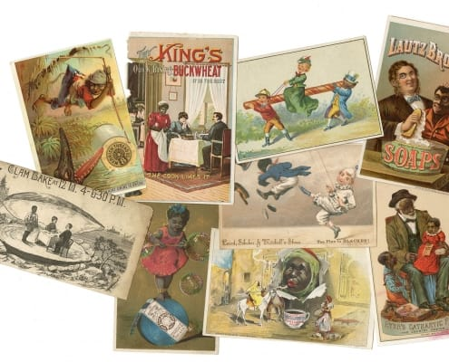 ]: Selection of trade cards from the Gwen Goldman African Americana Trade Card Collection. Gift of David Doret.