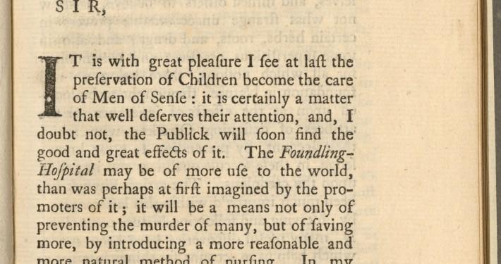 William Cadogan, An Essay upon Nursing (London, 1757). Cadogan 112225.D (Rosenberg).