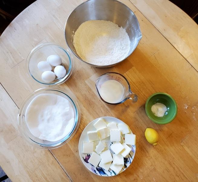 Ingredients for Barnard Cake