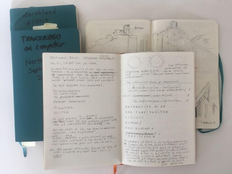 Andrea Krupp's journals.