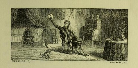 An illustration from Xavier de Maistre, A Journey round my room (New York: Hurd and Houghton, 1871).