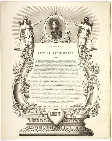Joseph H. Brightly, Protest Against the British Government (Philadelphia: William Smith, ca. 1858). Lithograph.
