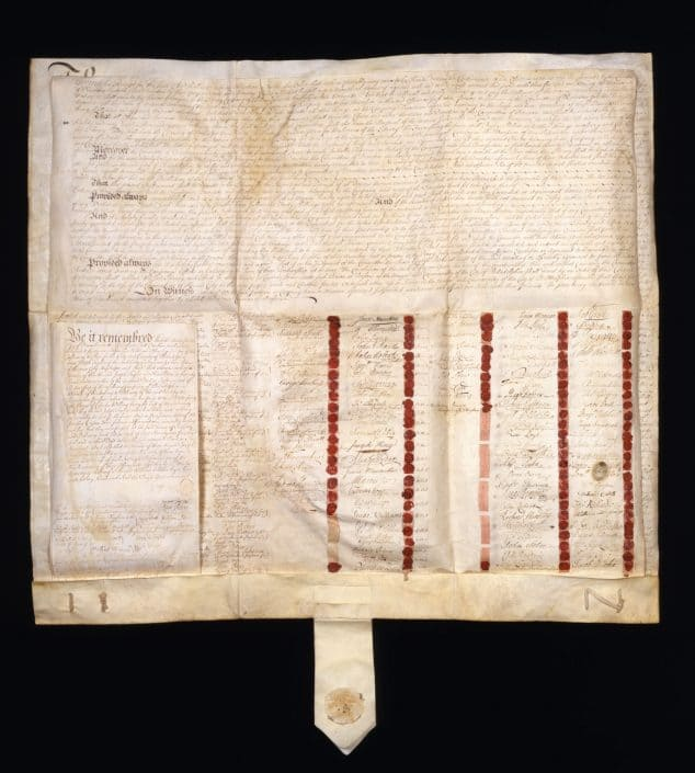 Articles of Association. Manuscript on vellum, Philadelphia, July 1, 1731.