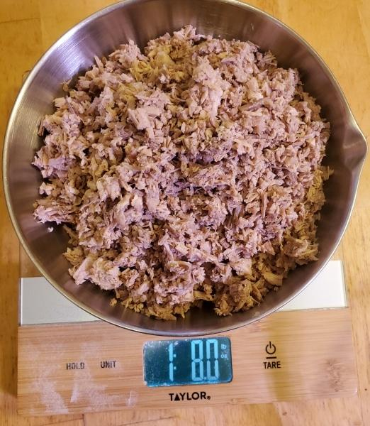 Weighing pork