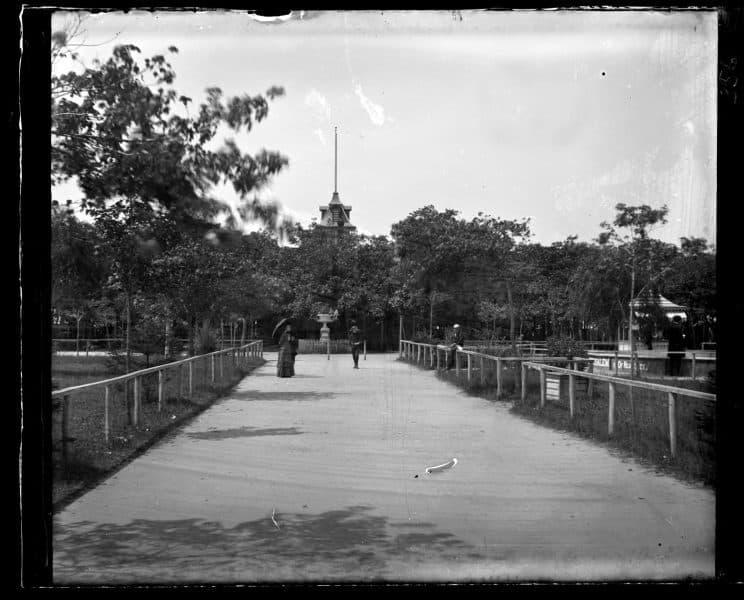 Marriott C. Morris, Ocean Pathway, Ocean Grove. Looking toward auditorium, 1884