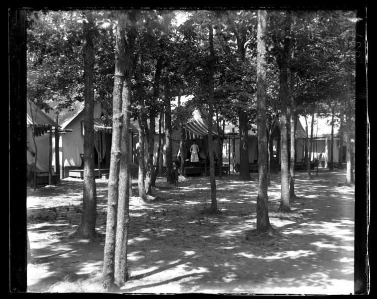 Marriott C. Morris, View of Tents at Ocean Grove from Tabernacle, 1884