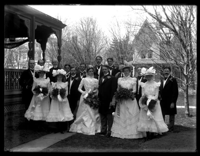 Marriott C. Morris, Wedding of Sarah W. Perot and Richard M. Lea, April 17, 1901, digital print from original glass negative. The Library Company of Philadelphia.