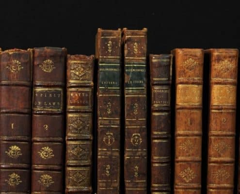 Misc. books on shelf.