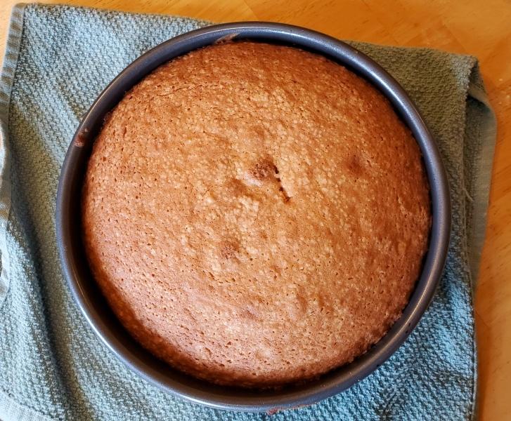 Barnard Cake, fully baked in pan