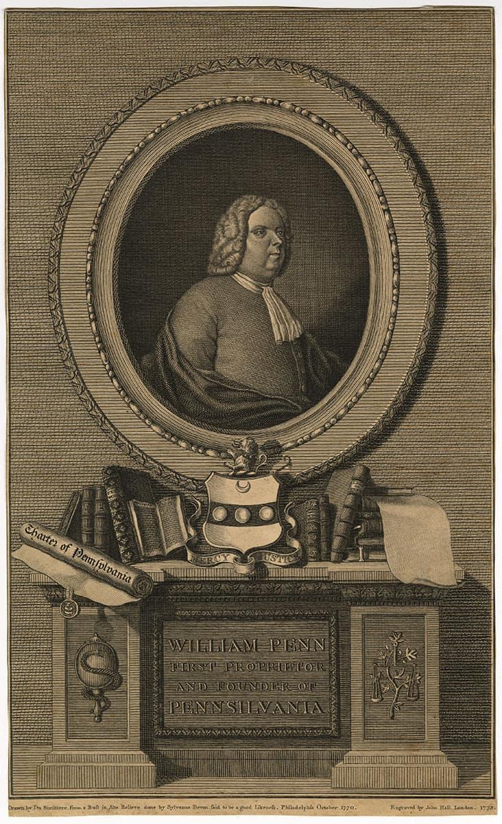 Hall, John, engraver. William Penn. London: Richard Penn, 1773.