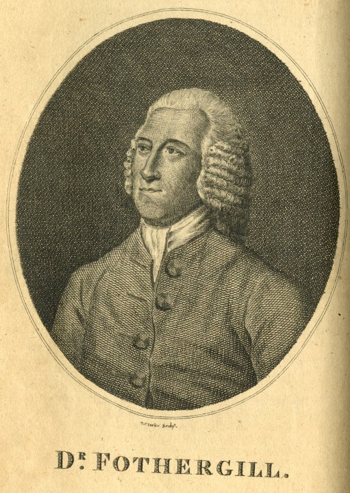 Portrait of Dr. Fothergill. The American Universal Magazine. Philadelphia: Printed for Samuel F.L. Smith & Thomas Smith. Vol. 4, no. 2 (Dec. 22, 1797): frontispiece.