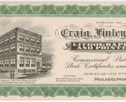 Craig, Finley & Co. Lithographers and Printers (Philadelphia: Craig, Finley & Co., ca. 1930). Photomechanical print.