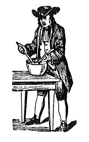 Nineteenth-Century Quaker mashing potatoes