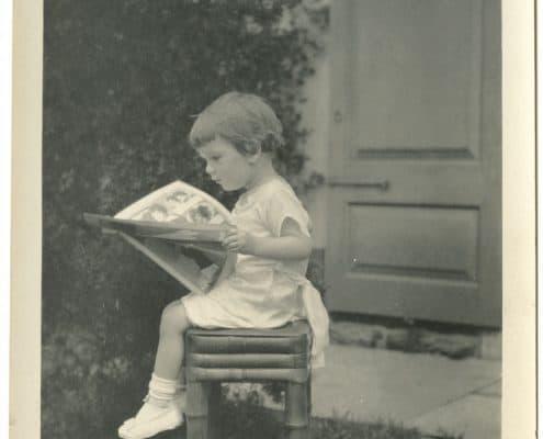 Jessie Willcox Smith, Unidentified Girl Reading, ca. 1920. P.9446.