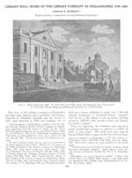 """Cover, """"Library Hall: Home of the Library Company of Philadelphia 1790-1180"""""""