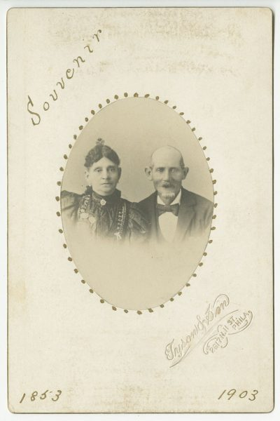 Tyson & Son. Unidentified Couple's 50th Wedding Anniversary, albumen print cabinet card, 1903. The Library Company of Philadelphia.