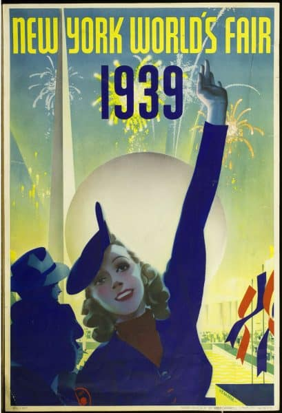 New York World's Fair 1939. Color poster.