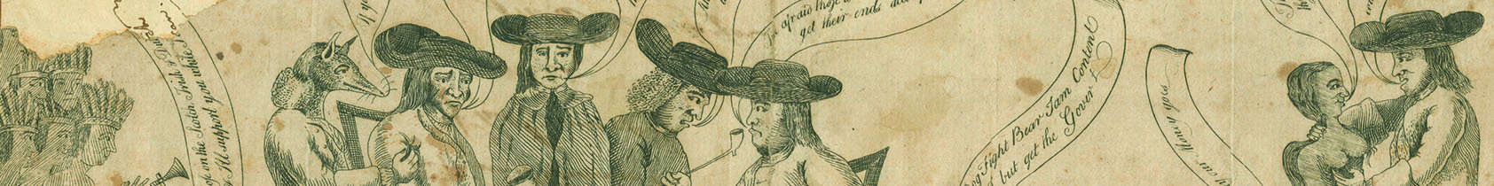 [Franklin and the Quakers [graphic] / James Claypoole?].